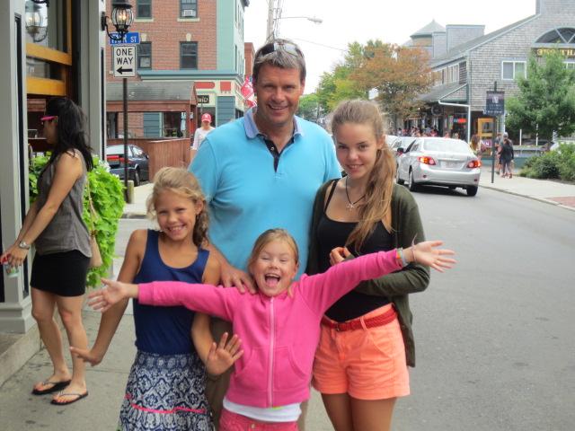 Benni and Dora with the lively Klara and Kristjana in Newport, RI