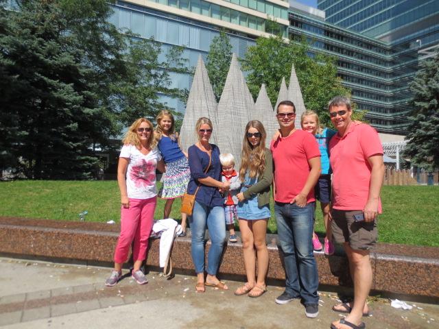 With Lilja, Kjartan and kids in Toronto