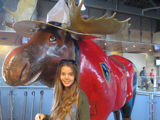 With a Canadian Moose