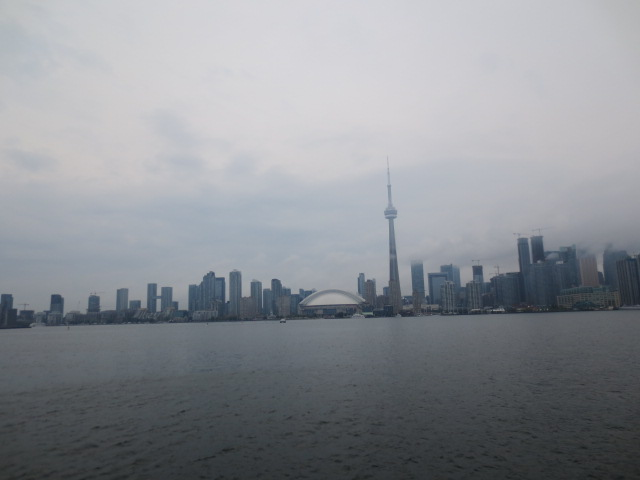View of Toronto from the islands