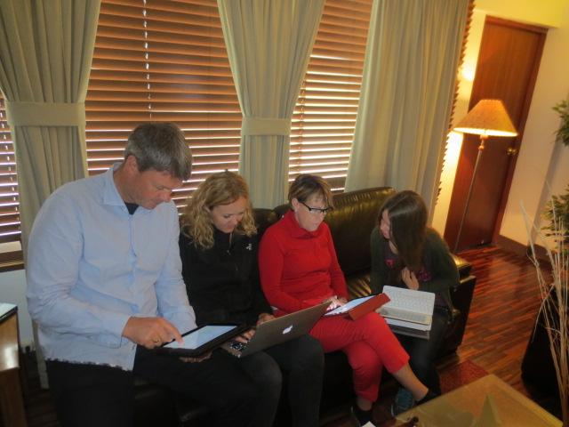 Benni, Gudrun, Ditta and Dora in planning mode