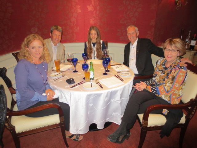 A great meal to celebrate our first day in Lima and Gudrun´s and Benedikt´s 26th wedding anniversary