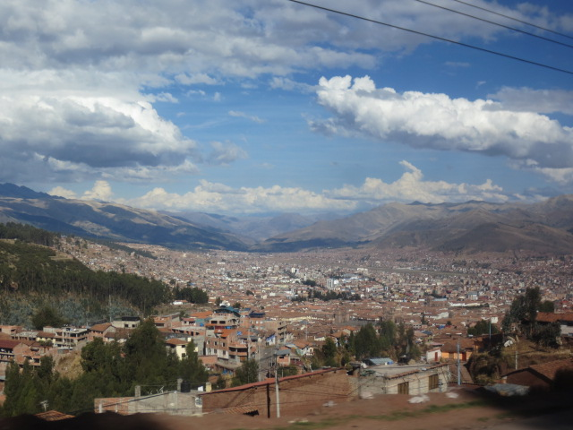 Our first view of Cusco