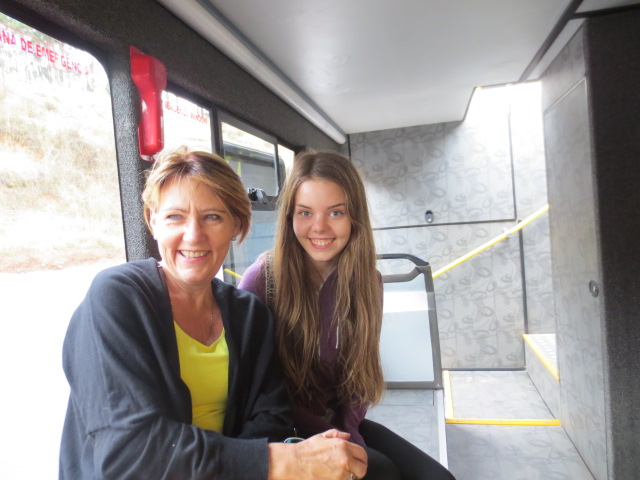 Ditta and Dora on one of our bus tours