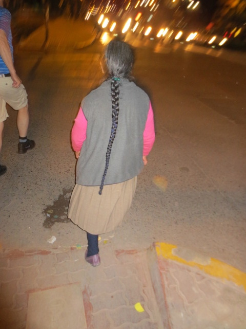 Dora got this photo of one of the older women braid - this was very common