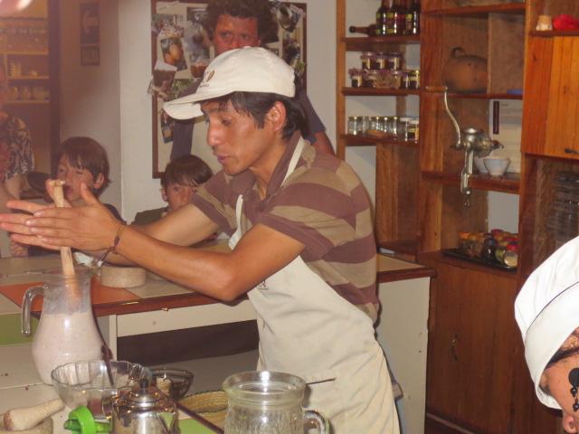 Our teacher making hot chocolate the original way