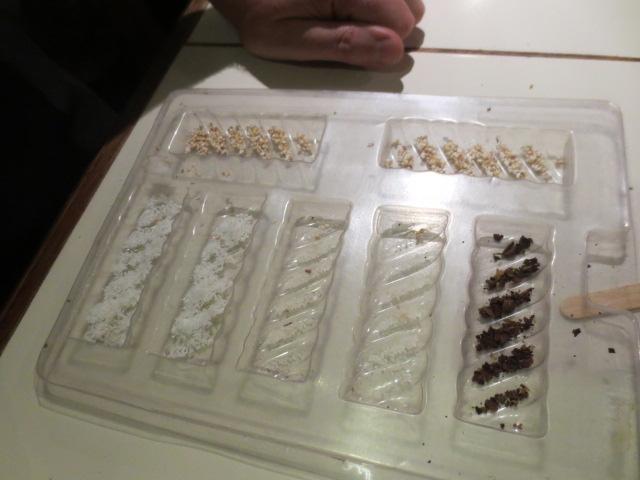 Benedikt adding the ingredients