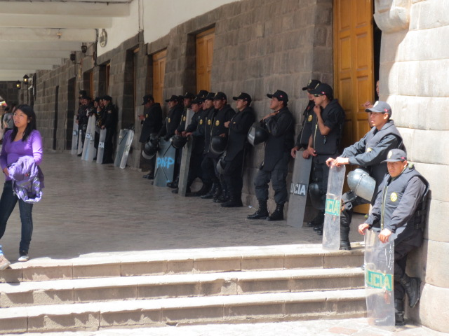 And now we saw that Cusco also has a lot of law enforcement - they looked ready for anything