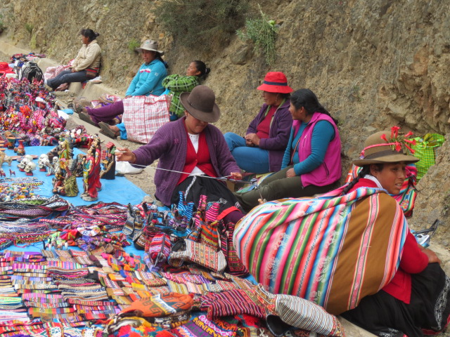 And while waiting for customers many kept on making handcrafted items