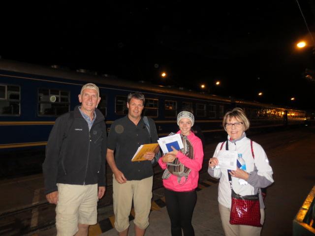 Catching a train to Aquas Calientes