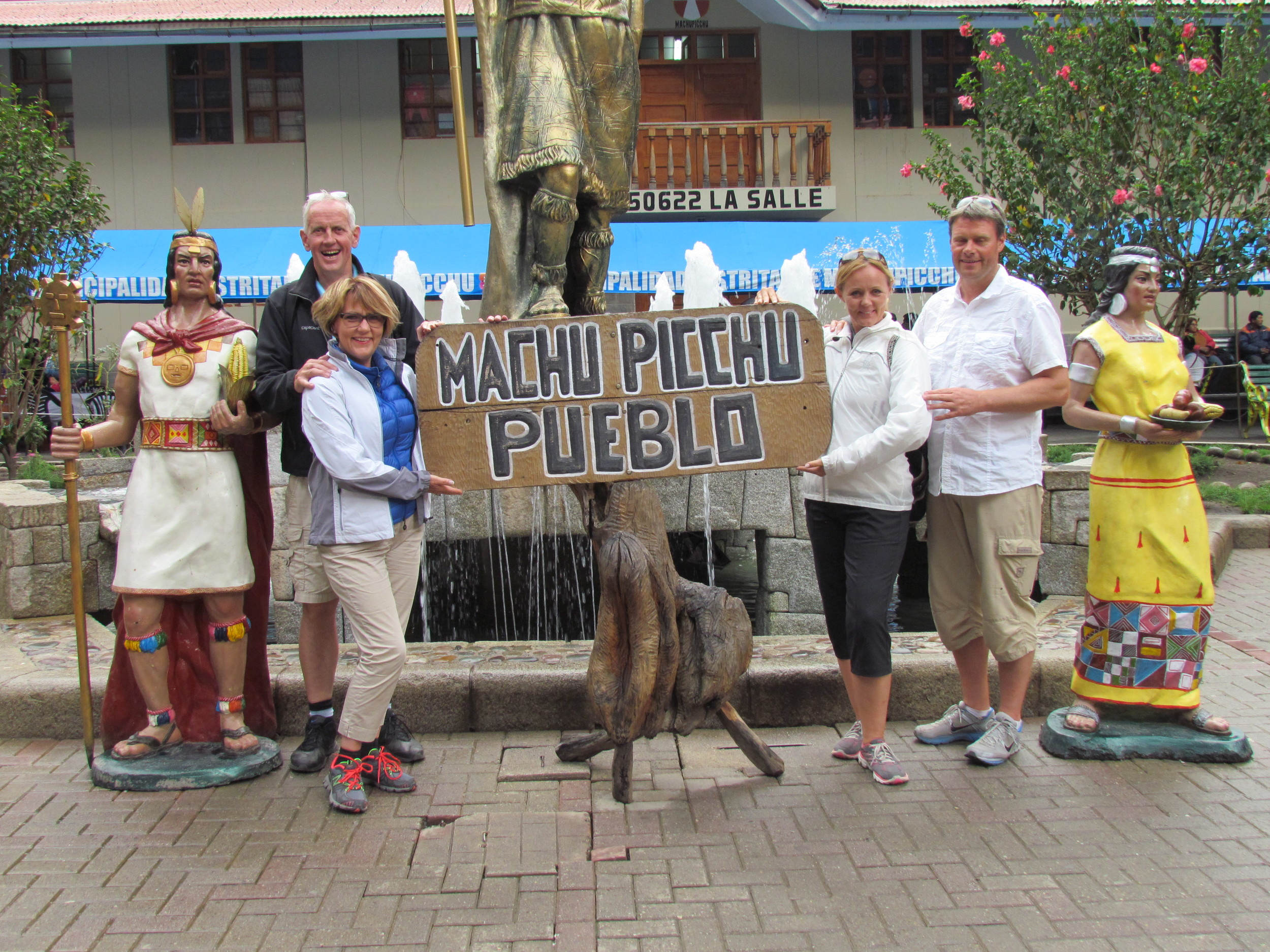 Back down from Machu Picchu in the village called Aquas Caliente but apparently also Machu Picchu pueblo