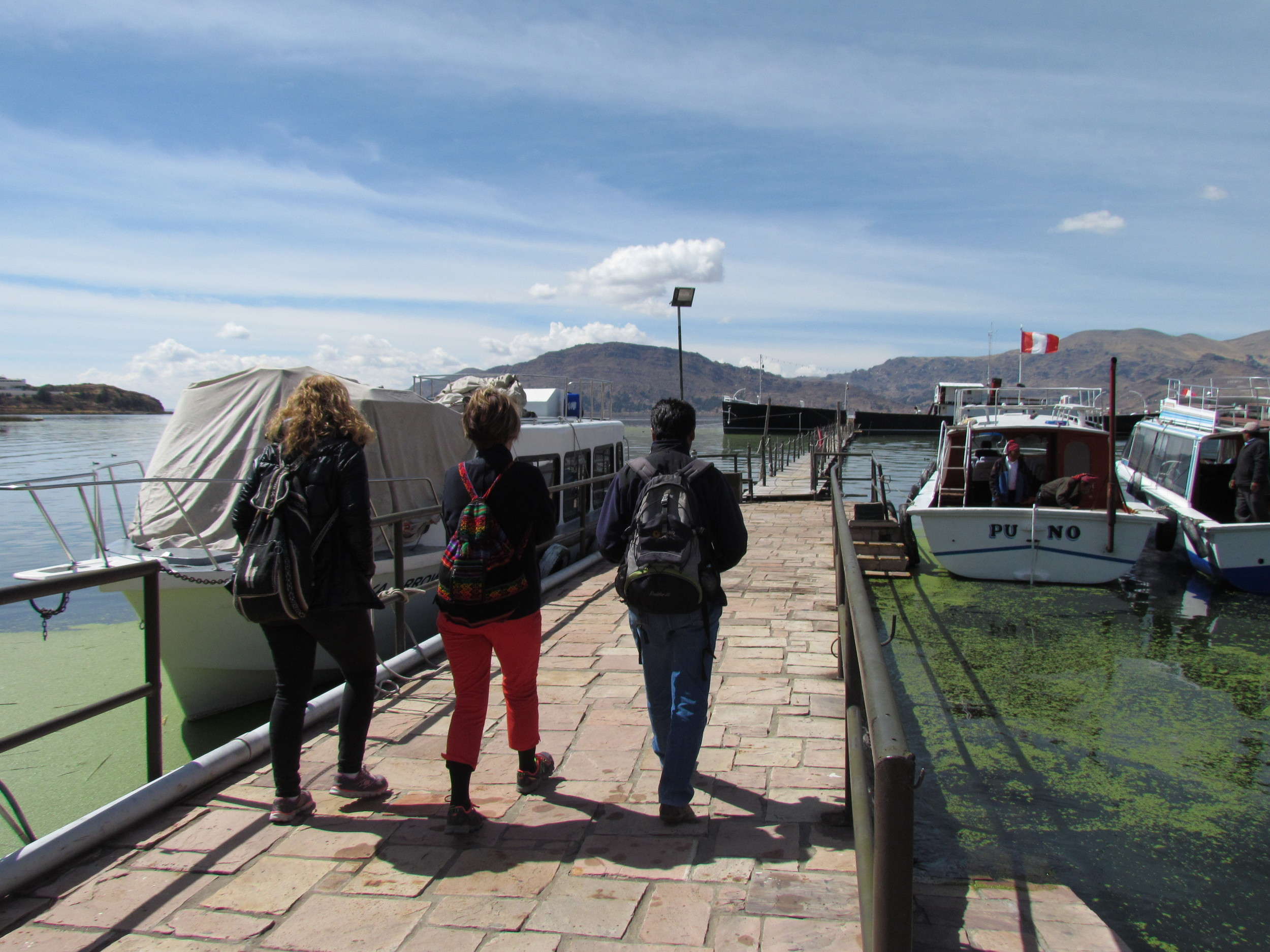 Heading on a day of adventure on lake Titicaca