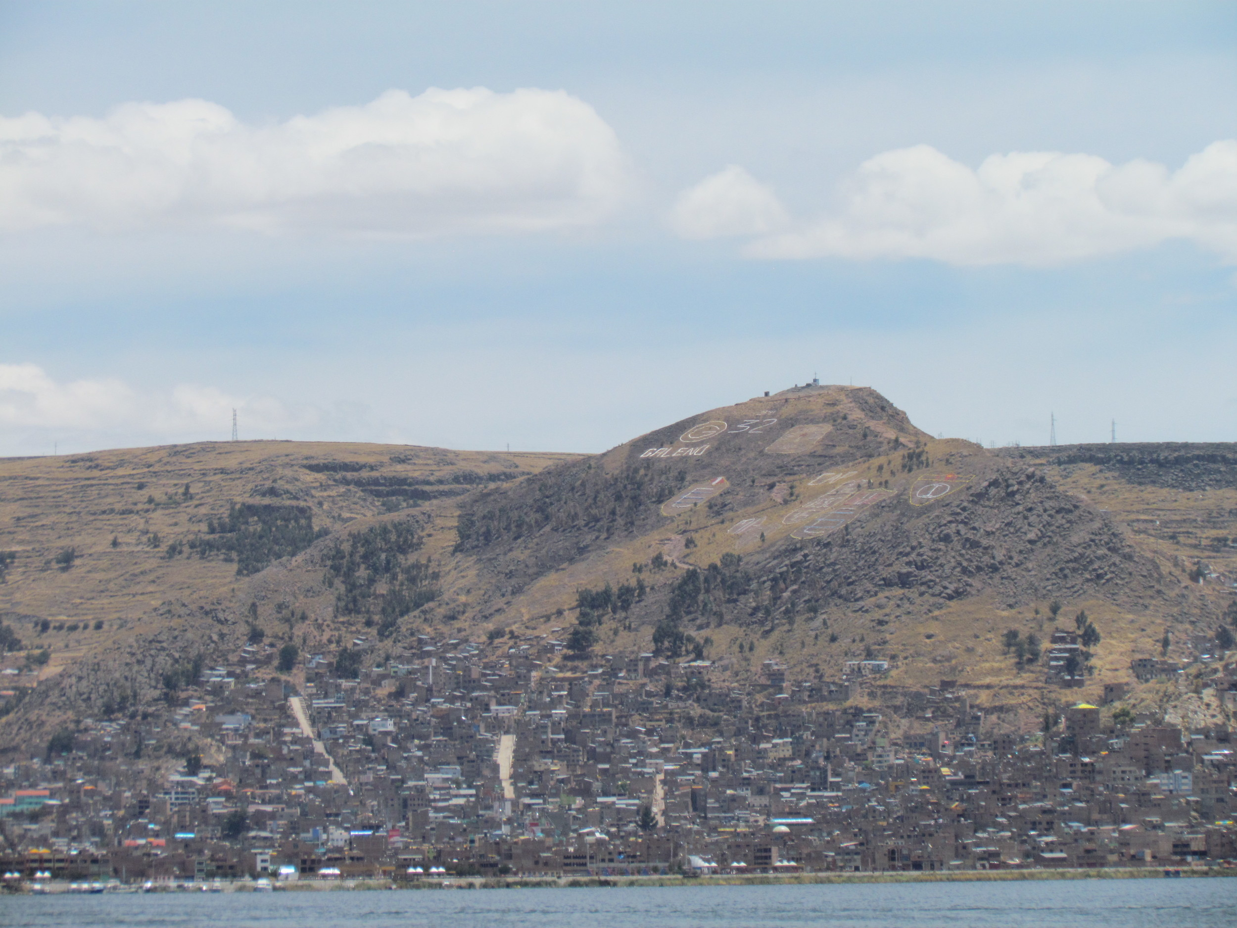 We got a good look of Puno on our way back