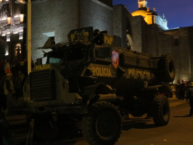 The army and police were determined to keep the demonstrations from escalating