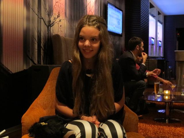 Dora at the bar :-)