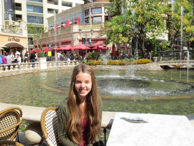 One of the first things we did in LA was to have lunch at The Grove