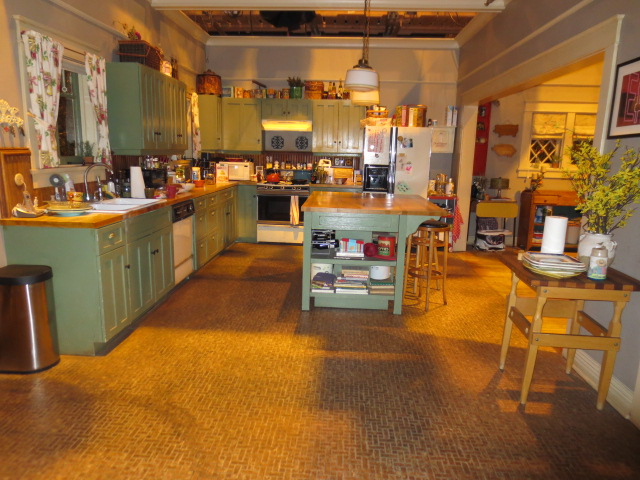The kitchen where a lot of the scenes are taken apparently (we might need to start seeing this TV series)