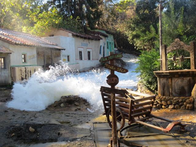 An animated flood