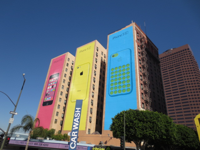 Apple advertisements add colour to the city