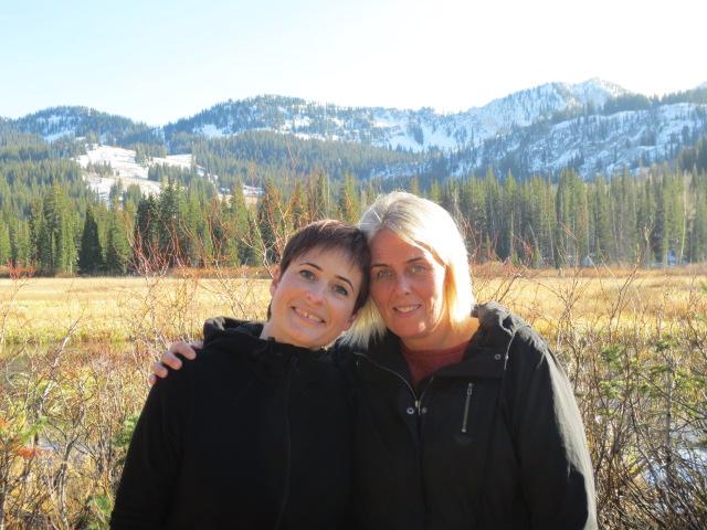 Helga and Lilja enjoying the fresh hike