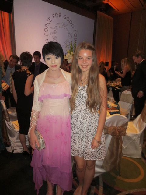 Dora and Sophia (Sandie´s daughter) looking stunning at the Force For Good gala