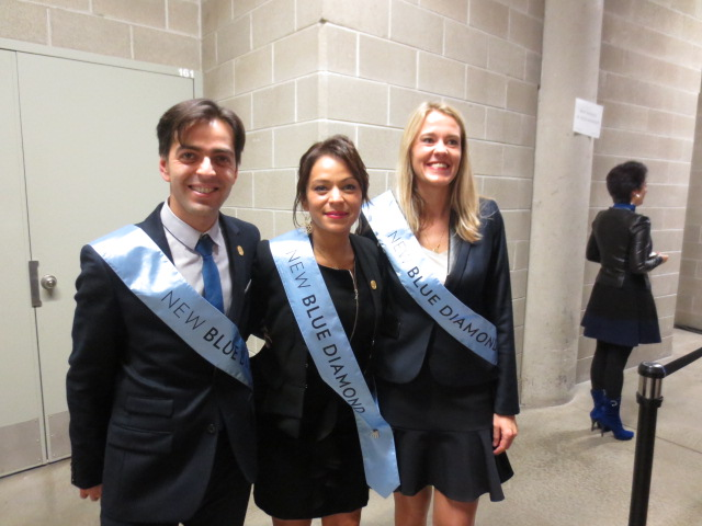 Backstage with the most dynamic French (Turkish) trio, Mehmet, Senin and Valerie.  They were both new Blue Diamonds and new $1 million circle members!