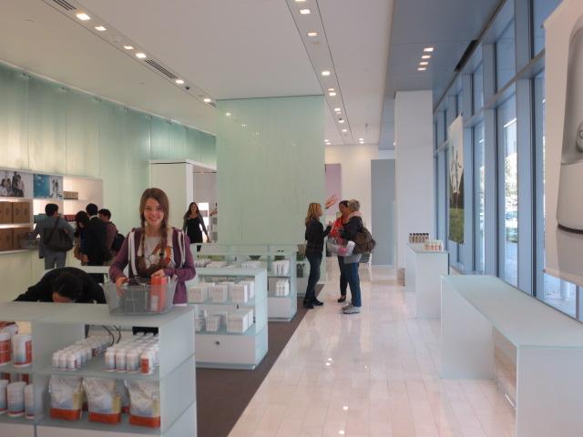 Dora at the Nu Skin shop in Provo