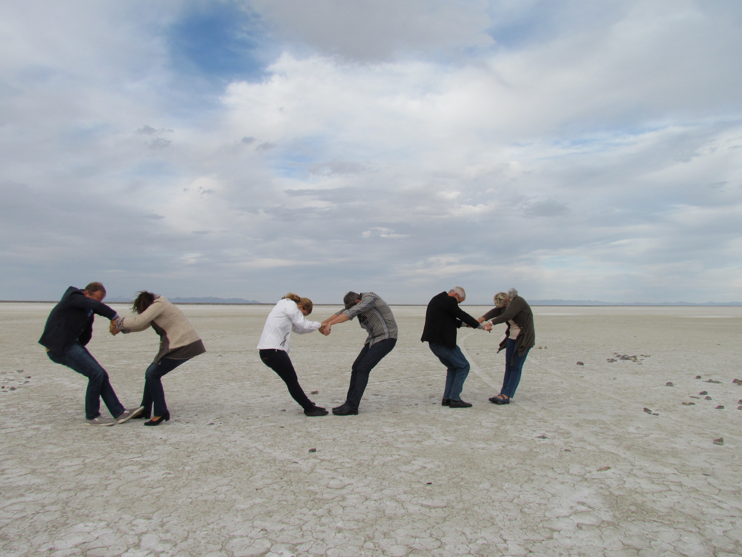 We had fun on the salt planes of Utah - here we are making a weak attempt to form hearts :-)