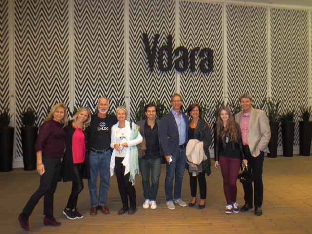 Anneli, Hanna, Chris, Liv, Max, Calle, Lena, Dora and Benedikt - In front of our very nice hotel