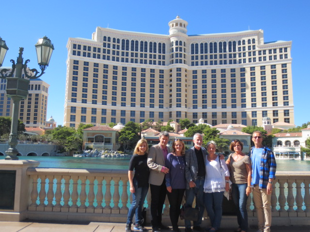 In front of the famous Bellagio