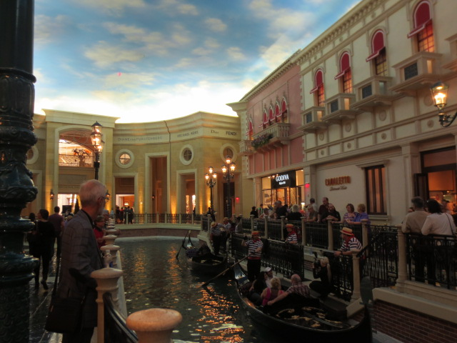 An indoor Venice in Vegas - a big disturbing with a painted ceiling