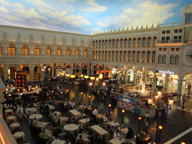 They have the whole square with restaurants and all - a little flavour of Europe