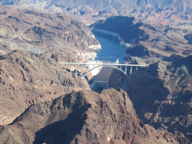 Hoover Dam on the border of Arizona and Nevada
