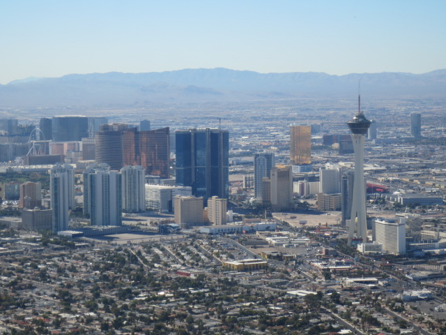 The Strip with its skyscrapers