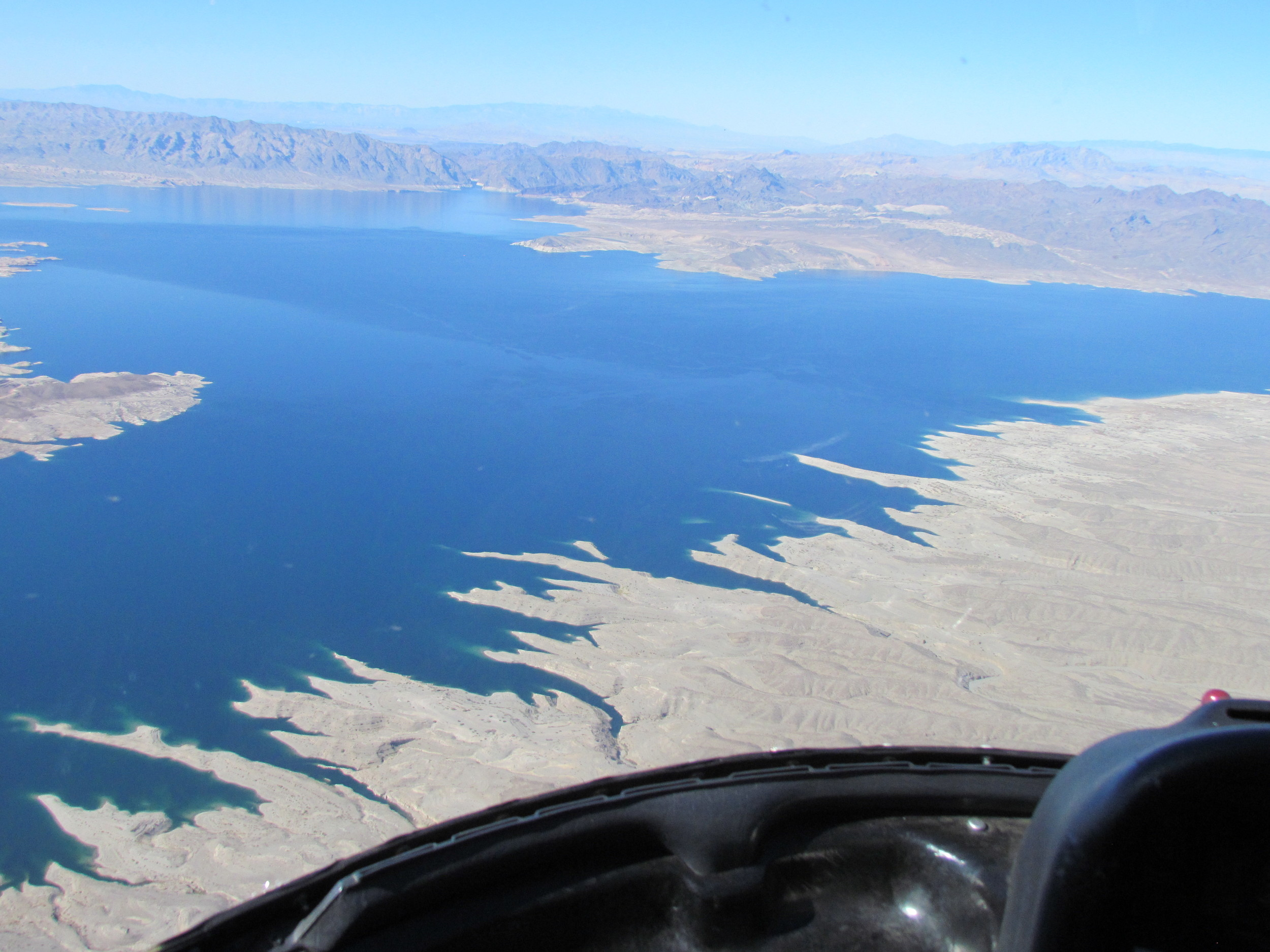 Lake Mead - the largest man made lake in the US