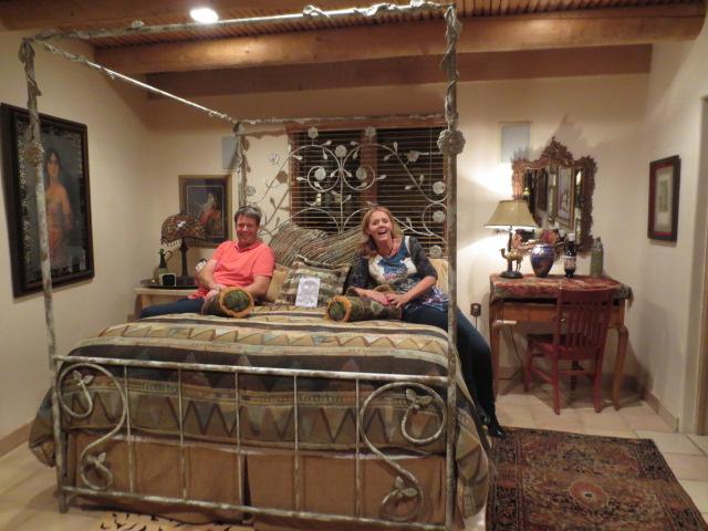 "Benedikt and Gudrun in their ""Egyptian Suite"" - 2nd floor."
