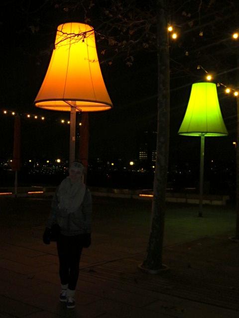 Interesting lights outside the restaurant