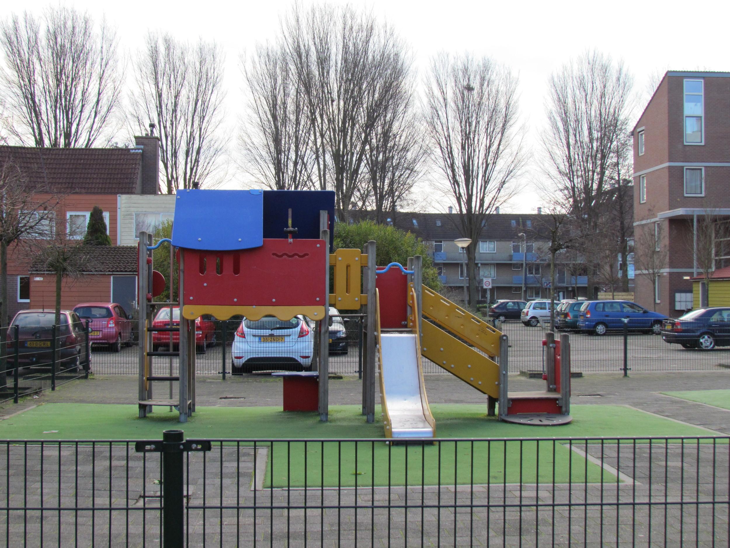 The playground looks a bit fancier now