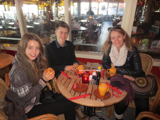 Hot chocolate on the beach at Scheveningen