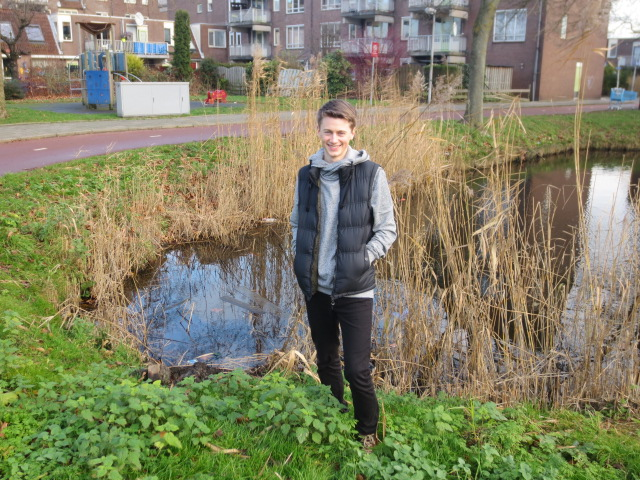 This is the pond where Atli fell in when he was 2.  He does not remember it but his aunt Lilja remembers it very well as she was babysitting him.