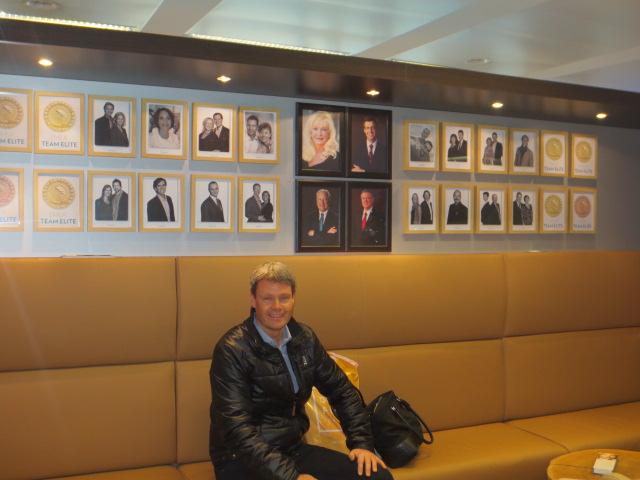 Benedikt in the Nu Skin office in Brussels