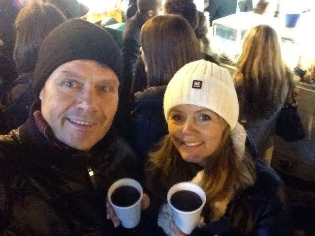 A selfie in Brussels with Gluhwein
