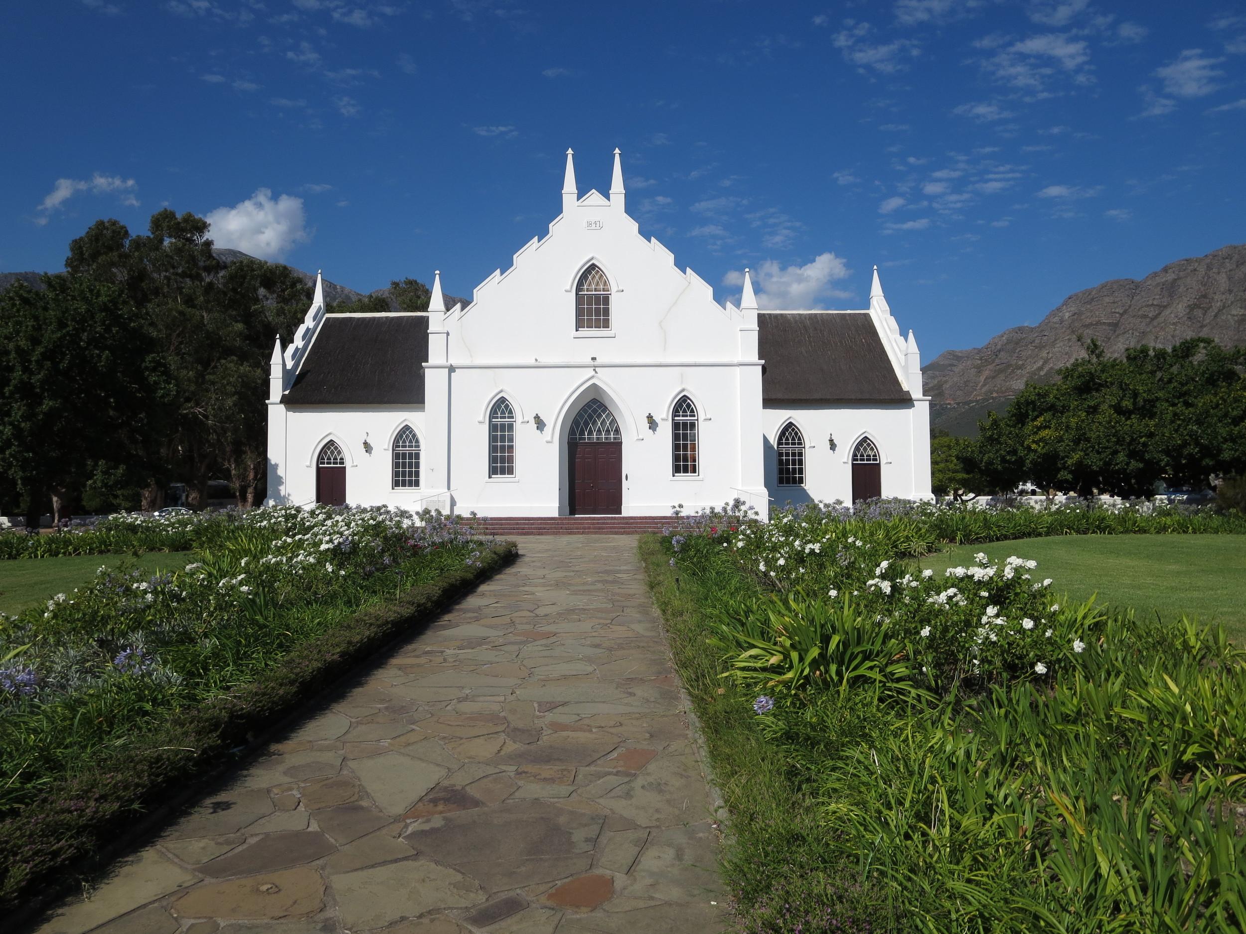 A church in Franschhoek