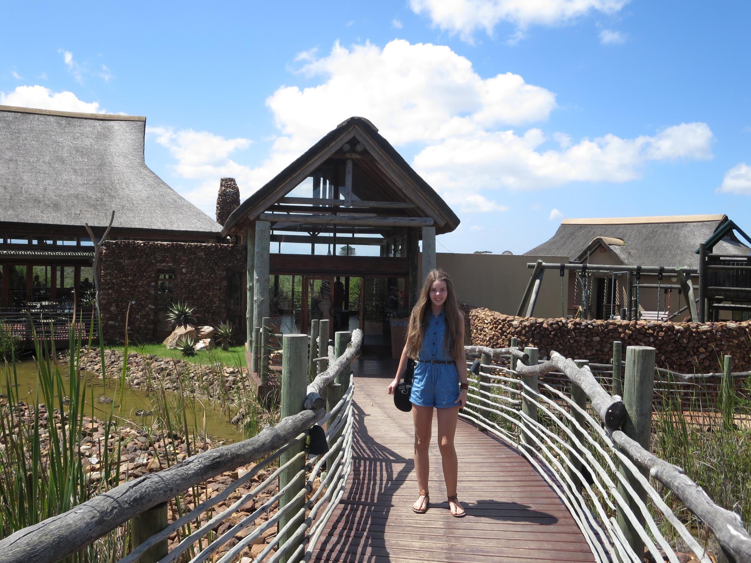 Dora at our Safari lodge