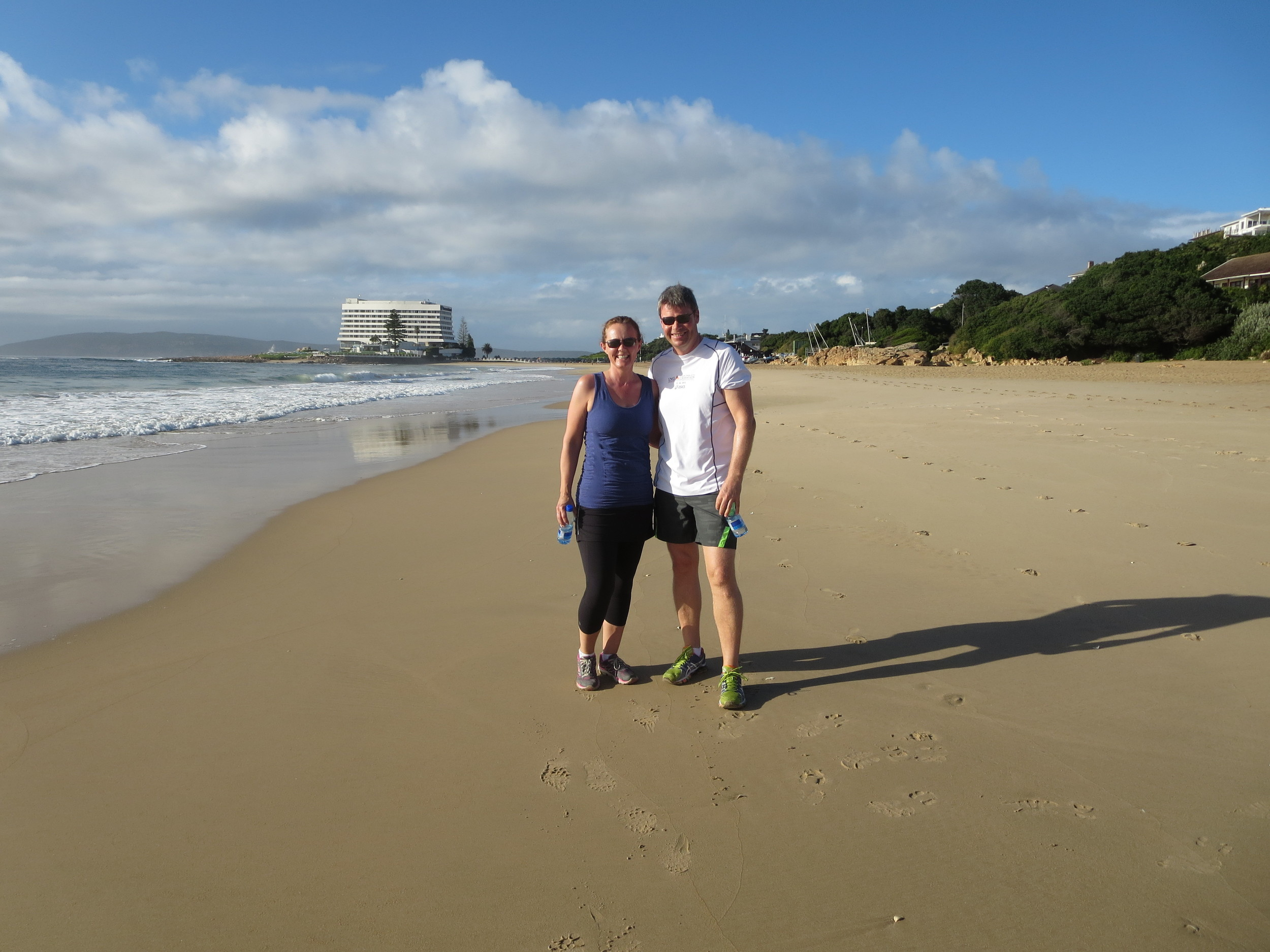 Morning walk on the beach at Plettenberg Bay