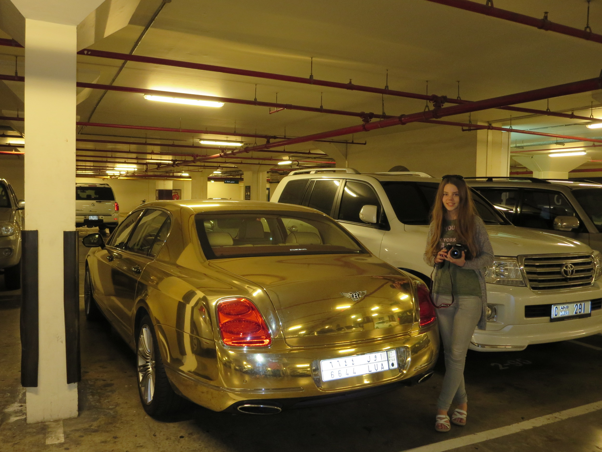 Dubai is the place if you want to drive a golden Bentley