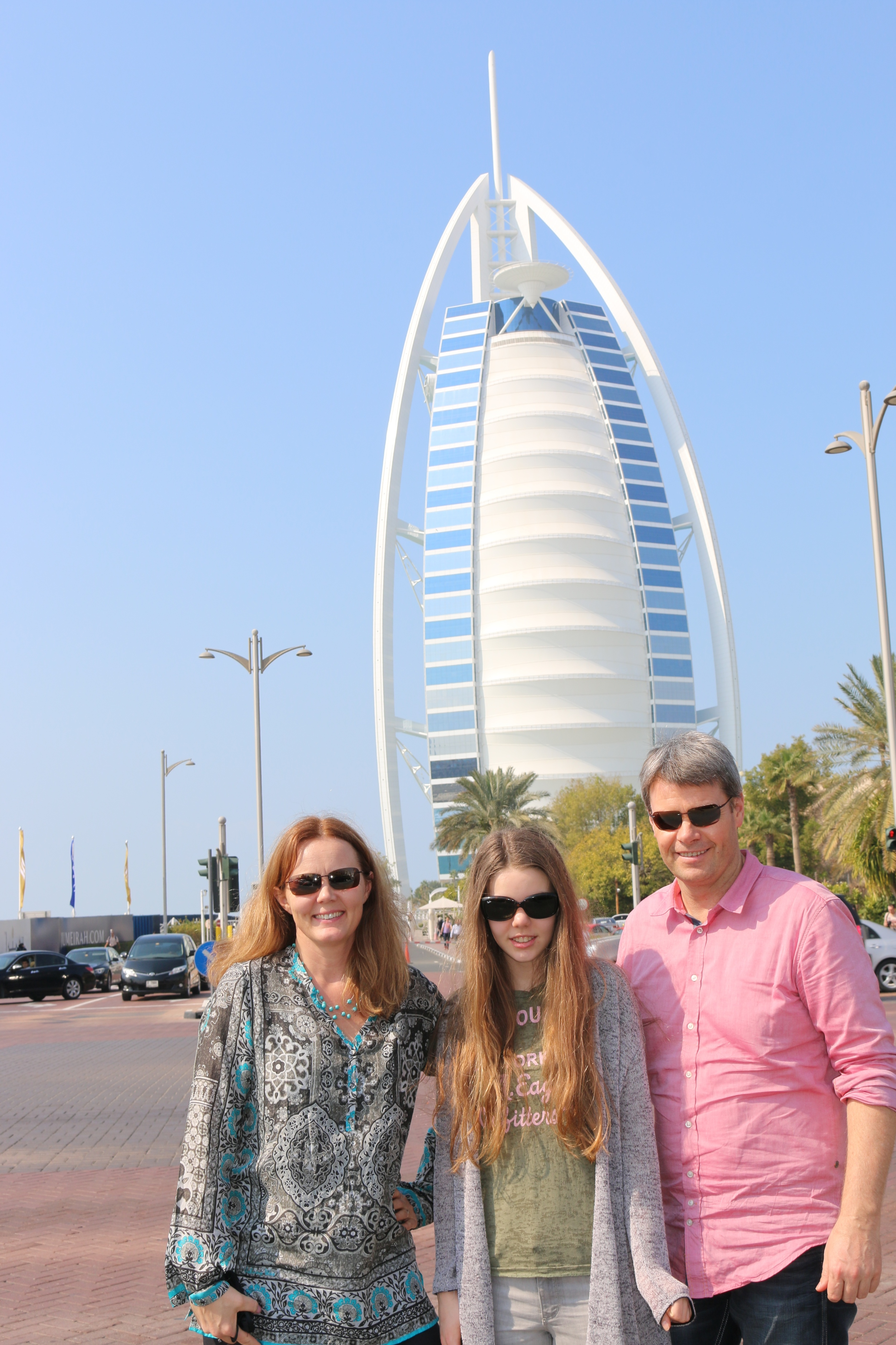 In front of the only 7 star hotel in the world