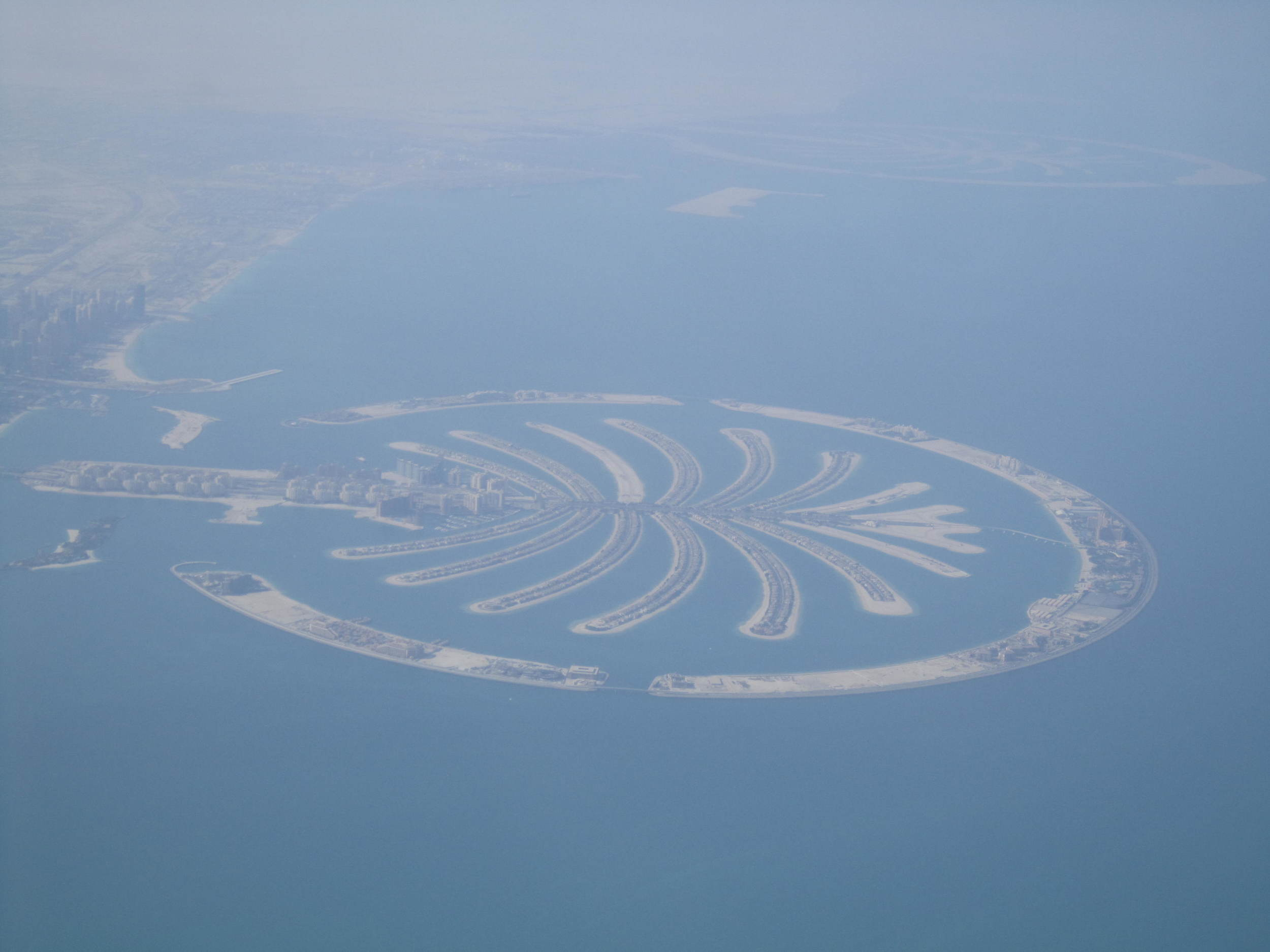 One of the palm islands we went exploring