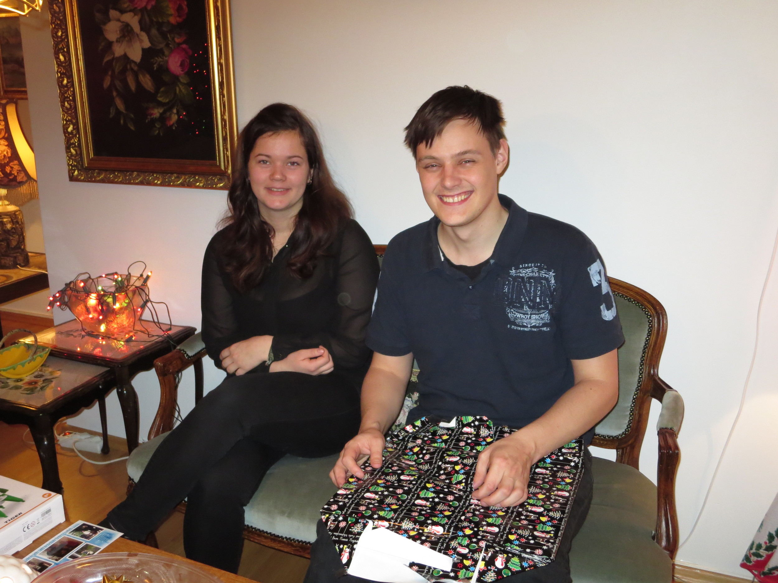 """Björn Andri opening some """"after Xmas"""" presents"""