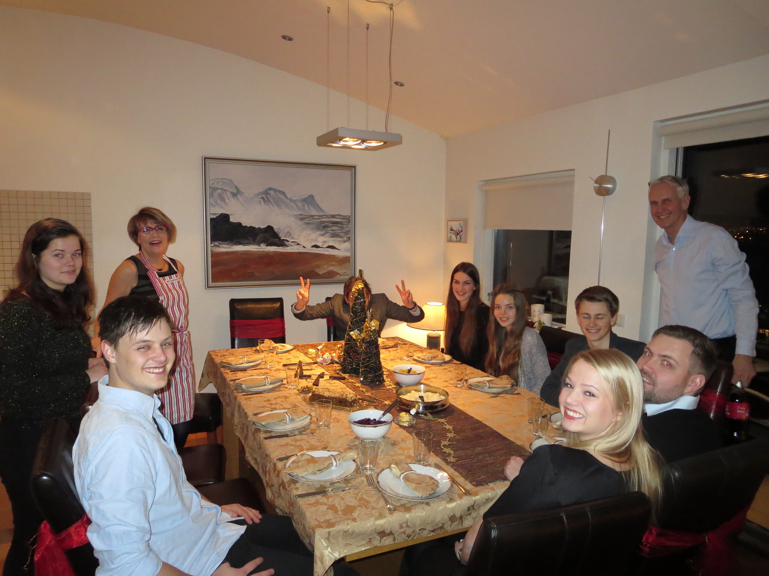 """Christmas celebration at afi Kiddi´s and Ditta´s with all the big """"kids"""""""